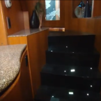 But wait! There's more! This is a staircase which leads to the trailer's second level.<span class=