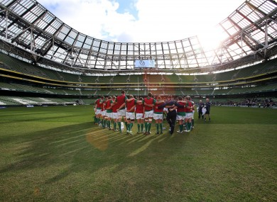 The Aviva Stadium awaits Samoa, Australia and New Zealand.