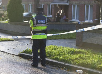 Gardaí at the scene of a womans death in a house in Blanchardstown.