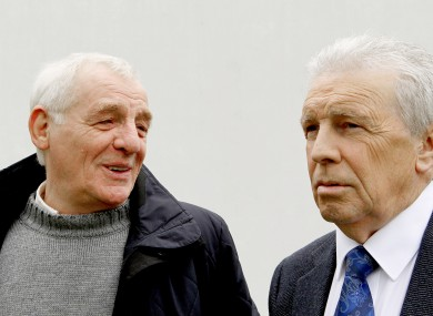 Eamon Dunphy with fellow football pundit John Giles in 2012.