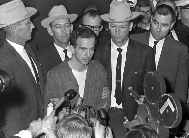 News cameras became ubiquitous in the days following the assassination - even capturing the shooting by Jack Ruby of the JFK killing suspect Lee Harvey Oswald, seen above centre.