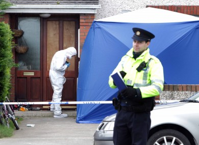 Investigators outside the house in Mourne Park, Skerries earlier today