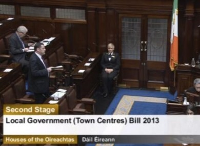 Barry Cowen speaking in the Dáil this morning