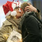Barbara Connolly from Wicklow welcomes her son Stephen home for Christmas<span class=