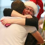 Eithna Ratcliffe from Dublin welcomes home her brother from New Zealand<span class=