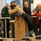 Emotional scenes as people welcome home their loved ones<span class=
