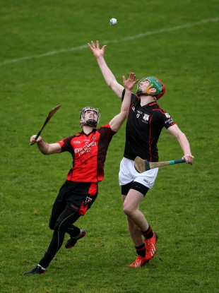 Mount Leinster Rangers' Edward Byrne and Eoin Moore of Oulart-The Ballagh (left).