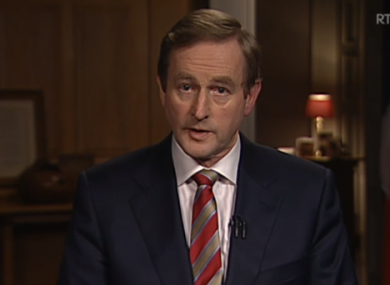 Enda Kenny during the State of the Nation address earlier.