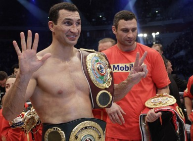 Wladimir Klitschko vows to win brother's WBC belt · The42