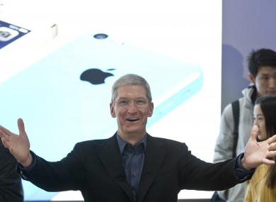 Tim Cook during a promotional event in China