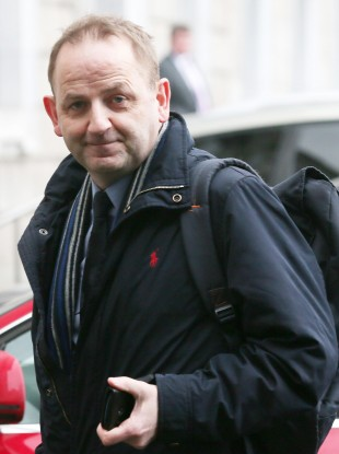 Maurice McCabe arriving at Leinster House today