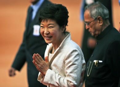 South Korean President Park Geun-hye during a visit to India.