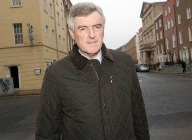 John Tierney, arrives at Leinster House for this afternoon's hearing.