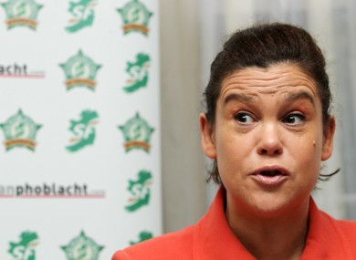 Mary Lou McDonald at the launch of Sinn Féin's political reform proposals today.