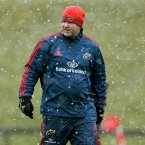 Potential Munster Head Coach Anthony Foley has a hat...and gloves.<span class=