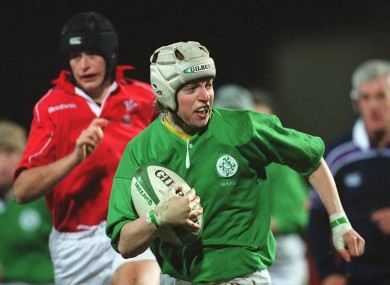 Steed in action against Wales in 2002.