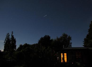 International Space Station orbiting over New Zealand. Picture taken in Mapua, Tasman