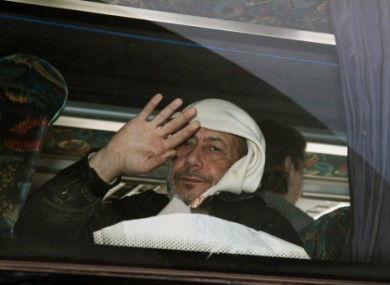 A man evacuated from Homs today