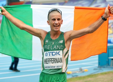 Rob Heffernan after last year's triumph in Moscow.
