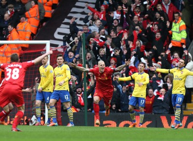 Liverpool and Arsenal are set to meet again this weekend.