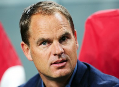 Frank de Boer: has won three consecutive titles in Amsterdam.
