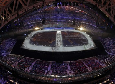 Today's opening ceremony at Sochi 2014.
