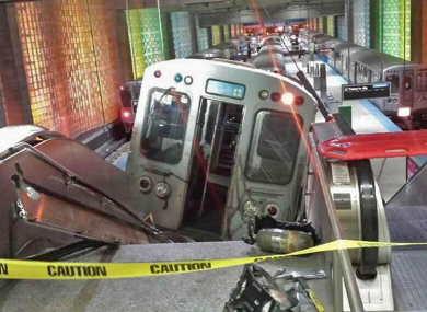 Over 30 injured as Chicago train derails and travels up