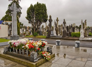 The grave of Michael Collins at Glasnevin Cemetery