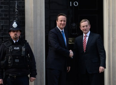 Enda Kenny made his comments while in London last night.
