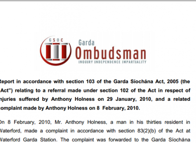The Garda Ombudsman (GSOC) report from last year that criticised the recordings of calls in 2010.