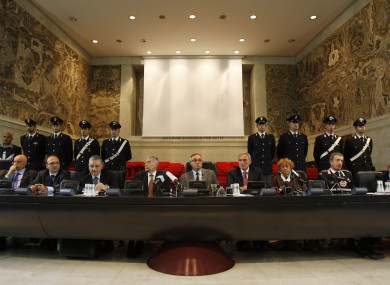 Judges at the biggest ever operation against the 'Ndrangheta crime organisation in 2010 which saw 300 people arrested.