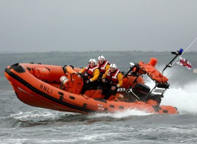 Crew on board the Lough Ree RNLI lifeboat (File photo)