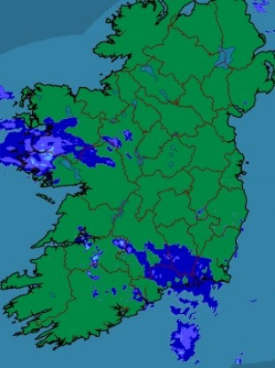 The rainfall radar as it looks right now