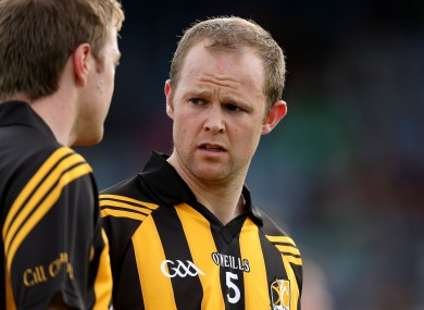 Tommy Walsh will drop to the bench for Kilkenny this weekend.