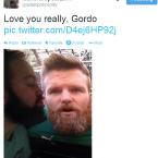 Beard love with Dordon D'Arcy.