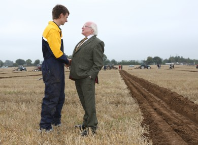 Not shy of spending time on the land, here he is at the Ploughing Championships last year.