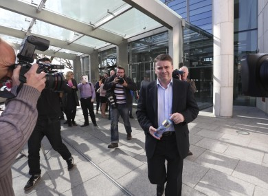 Pat Whelan leaves after sentencing.