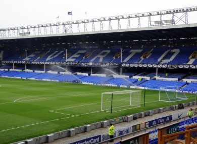 The Toffees are set to move from Goodison Park.