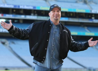 Garth Brooks at Croke Park stadium during an announcement about his concerts.