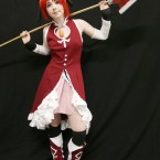 Charlotte Murphy from Dublin dressed as Kyoko Sakura from Madoka Magica.<span class=