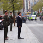 Minister Alan Shatter arrives at the GPO.<span class=