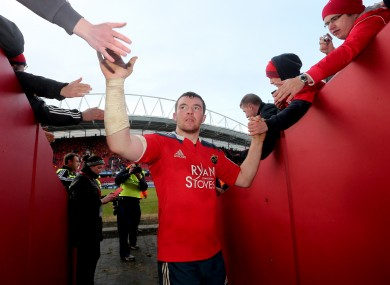 O'Mahony is back for Munster.