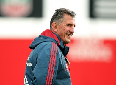 Rob Penney was in good spirits at Musgrave Park earlier.