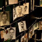 Family photographs of some of those who died hang in a display in the Kigali Genocide Memorial Centre in Kigali, Rwanda. The country will commemorated on 7 April, 2014 the 20th anniversary of the genocide when ethnic Hutu extremists killed neighbours, friends and family during a three-month rampage of violence aimed at ethnic Tutsis and some moderate Hutus, leaving a death toll that Rwanda puts at 1,000,050. (AP Photo/Ben Curtis)<span class=