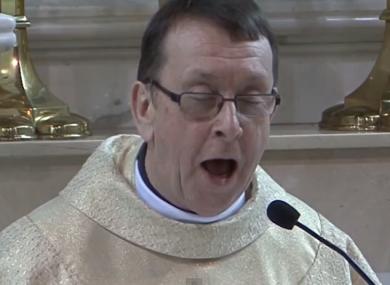 Fr Ray Kelly singing Hallelujah
