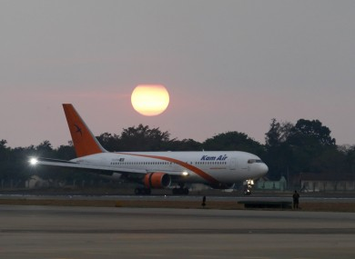 Plane at the Bandaranaike International airport in Colombo, Sri Lanka.