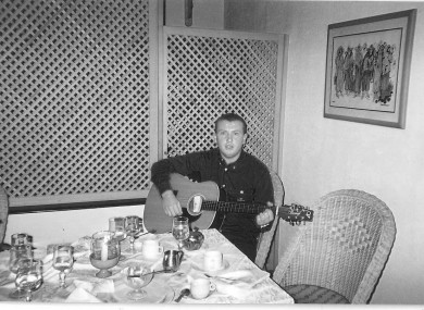 A younger Christopher Zambra, who was a keen musician.