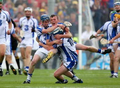 Waterford players celebrate last September's famous win in Croke Park.