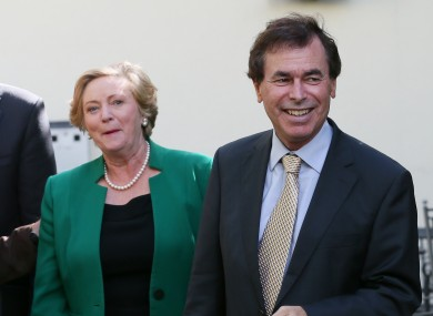 Frances Fitzgerald and Alan Shatter (File photo)