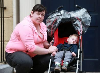 Tamara Kearns and her 1-year-old son Paul